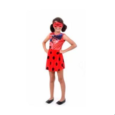 Fantasia-LadyBug-Faces-Infantil---vestido-e-mascara---tamanho-M---unidade