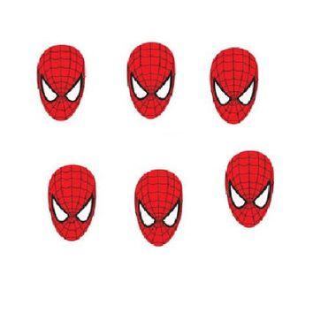 Aplique-Homem-Aranha---Spider-Man---Mini---face---e-v-a----pacote-06-unidades