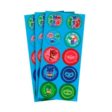 Adesivo-Decorativo-PJ-Masks---Redondo---03-cartelas-com-10-adesivos-cada