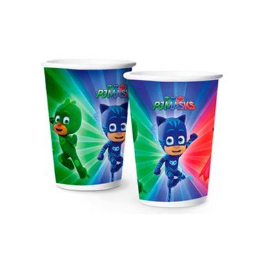 Copo-PJ-Masks---papel---180-ml---pacote-08-unidades