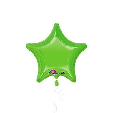 Balao-Estrela-20----metalizado---Verde-Limao---unidade