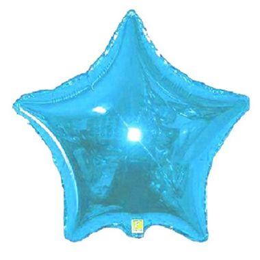 Balao-Estrela-20----metalizado---Azul-Claro---unidade