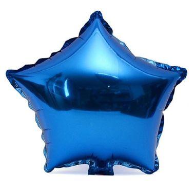 Balao-Estrela-20----Importado---metalizado---Azul---unidade