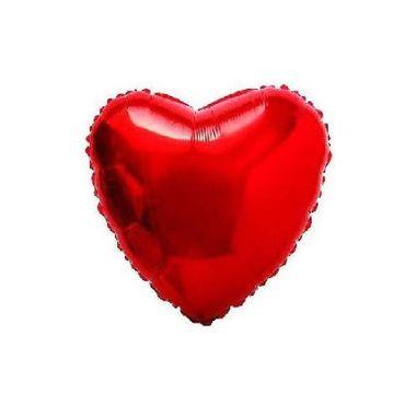 Balao-Coracao-9----metalizado---Vermelho---unidade