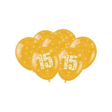 Balao-15-anos-9----Latex---Dourado-Metallic---pacote-25-unidades