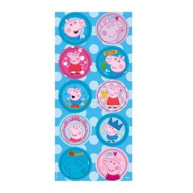 Adesivo-Decorativo-Peppa-Pig---Redondo---03-cartelas-com-10-adesivos-cada