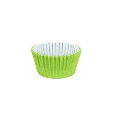 Forminha-Cupcake-Impermeavel---Verde-Limao---pacote-45-unidades