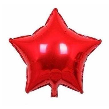 Balao-Estrela-9----metalizado---Vermelho---unidade