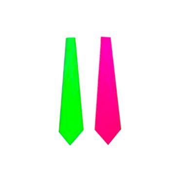 Gravata-Maravilha-Lisa-Nudel---FLUORESCENTE---plastico---cores-sortidas---pacote-12-unidades