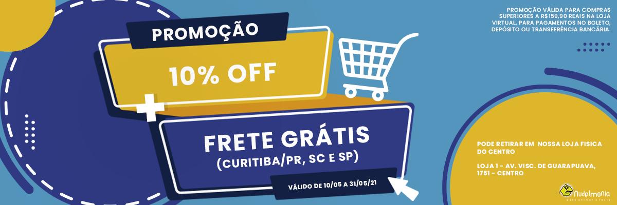Campanha 10% off  + Frete grátis