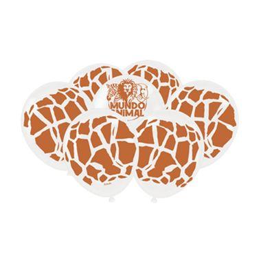 Balao-Mundo-Animal---Girafa---latex---9----25-unidades