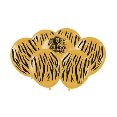 Balao-Mundo-Animal---Tigre---latex---9----25-unidades