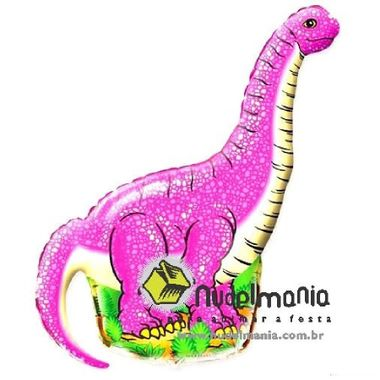 Balao-Dinossauro---HSG---metalizado---Rosa---unidade