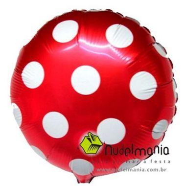 Balao-Redondo-20--Estampado-Poa-metalizado-Poa-Vermelho-com-Branco