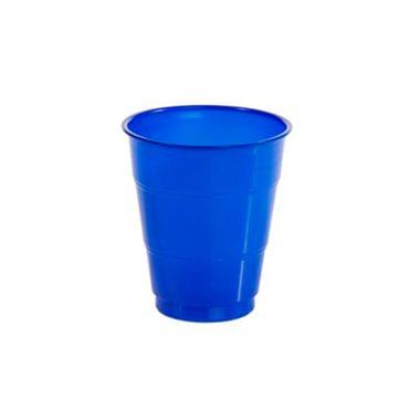 Copo-Color-210-ml---Plastico---Azul-Royal---pacote-10-unidades