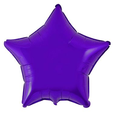 Balao-Estrela-20----Importado---metalizado---Roxo---unidade