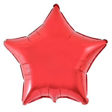 Balao-Estrela-20----Importado---metalizado---Vermelho---unidade