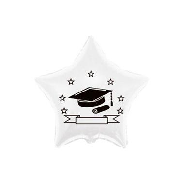Balao-Formatura-20----Estrela---metalizado---Branco---unidade