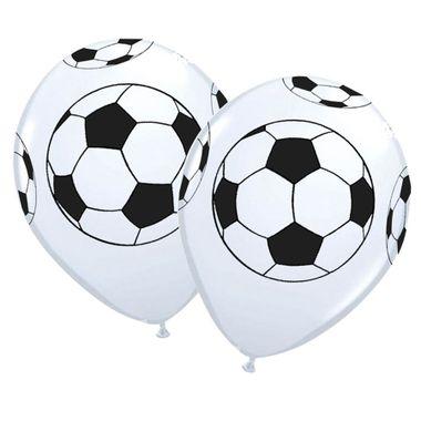 Balao-Futebol-10----Branco-com-Preto---Latex---25-unidades
